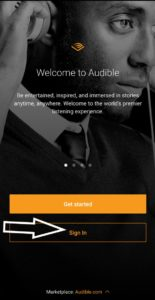 How to use Audible.com in your phone app: log back in