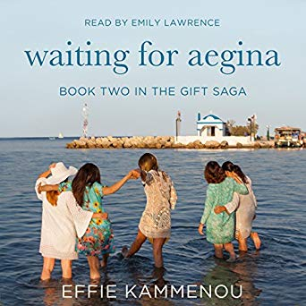 Waiting for Aegina by Effie Kammenou, audiobook narrated by Emily Lawrence. A great romantic story about friendship and love, spanning two generations. Chick Lit / Women's Fiction / Historical Romance.