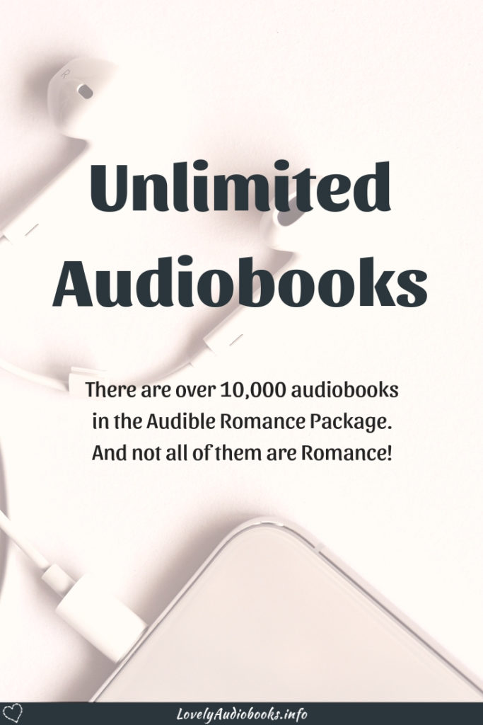The many book genres in the Audible Romance Package, part 1