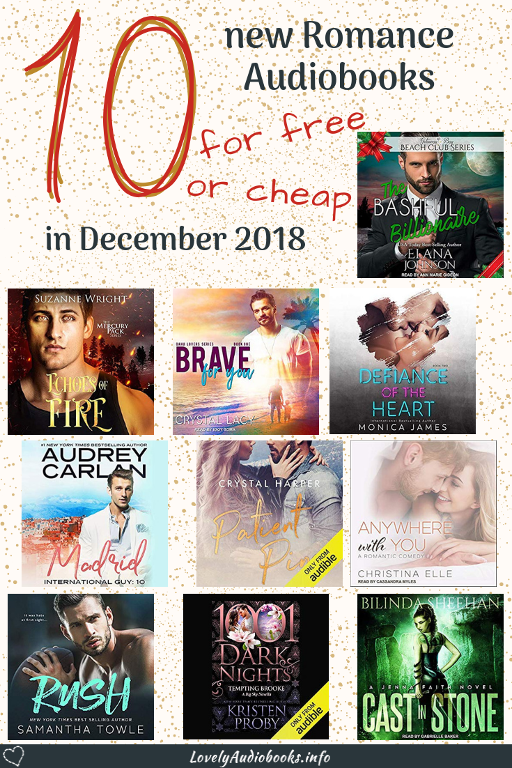 10 new Romance Audiobooks for free or cheap in December 2018