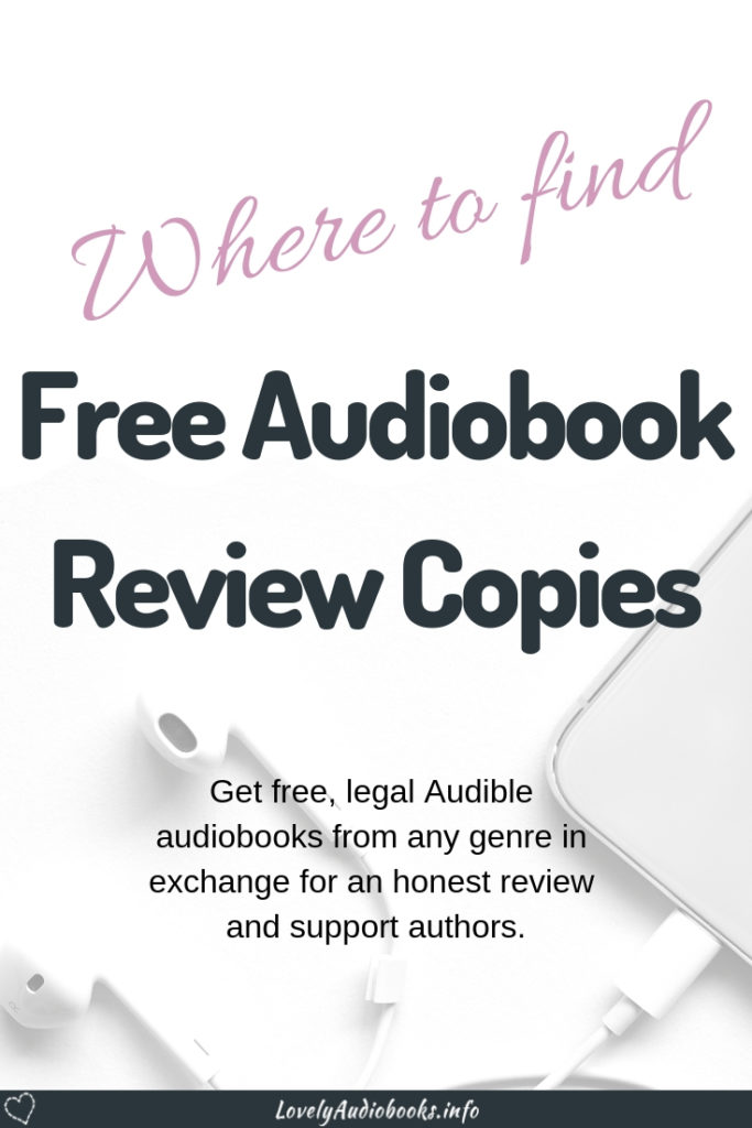 Check my list of websites and Facebook groups to find legal, free audiobooks! Many authors, narrators and promoters offer free audio review copies in exchange for honest reviews. This is a great way to support authors and get more great Audible audiobooks. #free