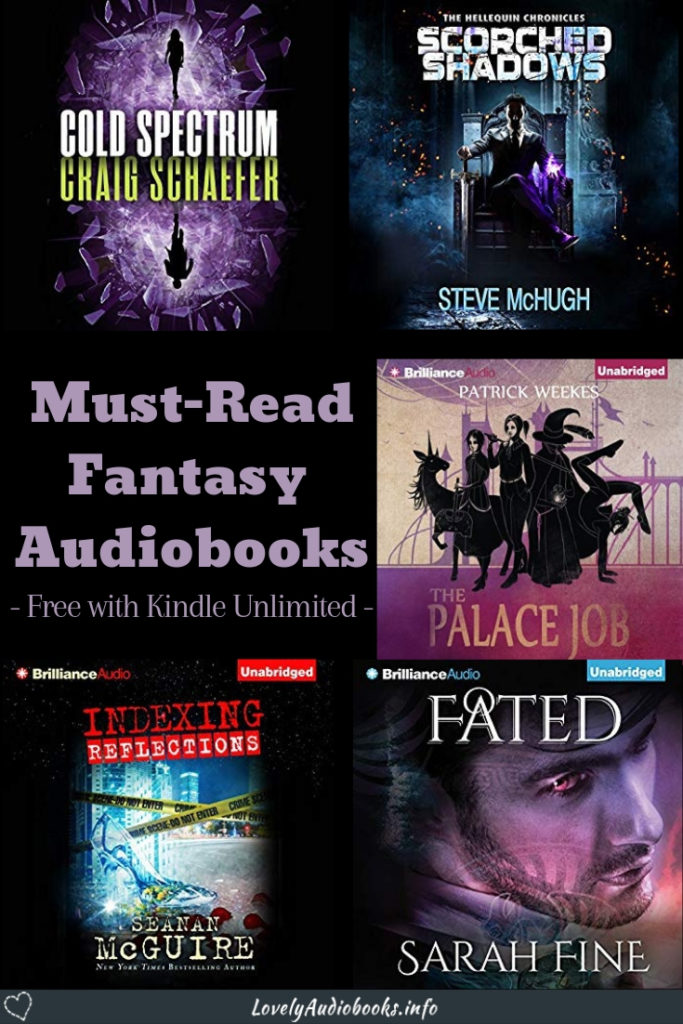 Free Kindle Unlimited audiobooks: These six Fantasy series are absolute must-reads and included in your subscription! #booklist #free #audiobooks