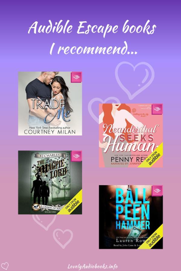 My 8 favorite Romance audiobooks in Audible Escape