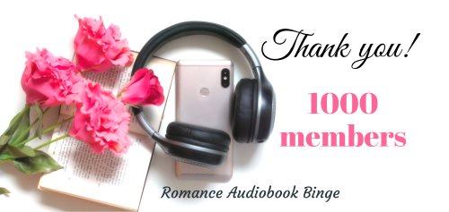 Romance Audiobook Binge Facebook group 1000 members