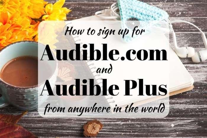 Audible Plus from the UK, Canada, Australia...