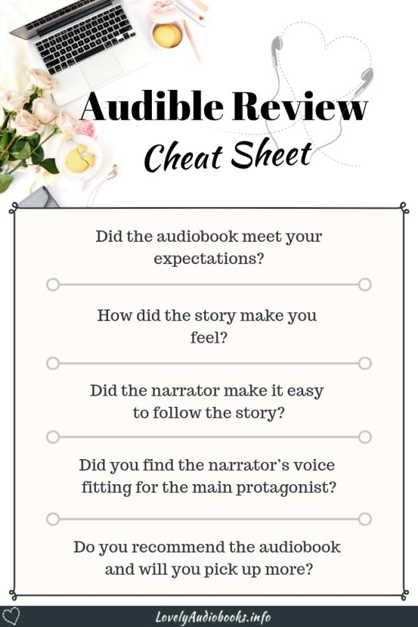 Audible Review Cheat Sheet - 5 questions to help you write a quick Audiobook review