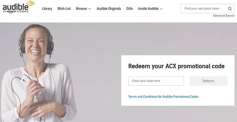 Audible ACX: Where to redeem Audible promo codes / free audiobook codes