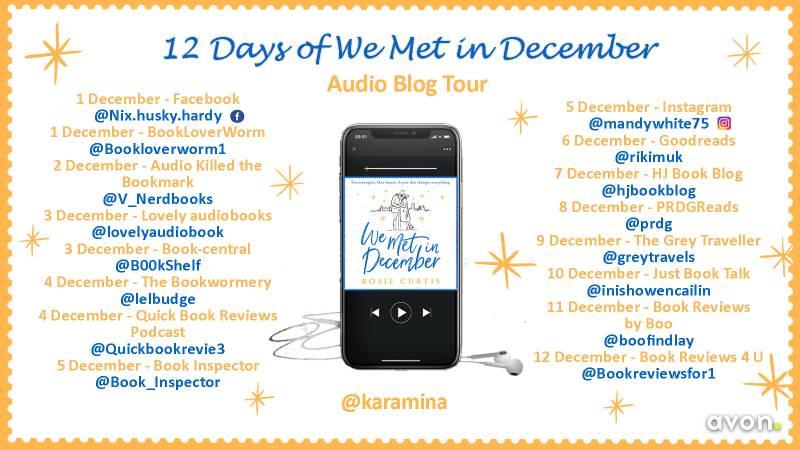 We Met in December by Rosie Curtis - blog tour