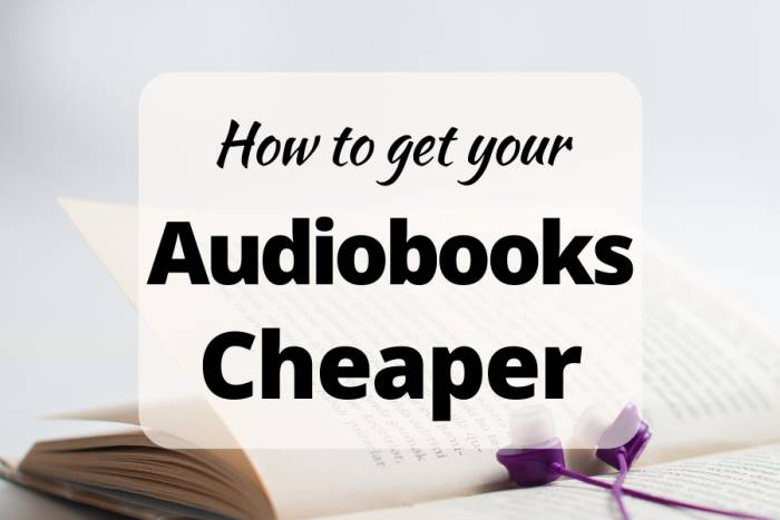 How to get cheaper audio books
