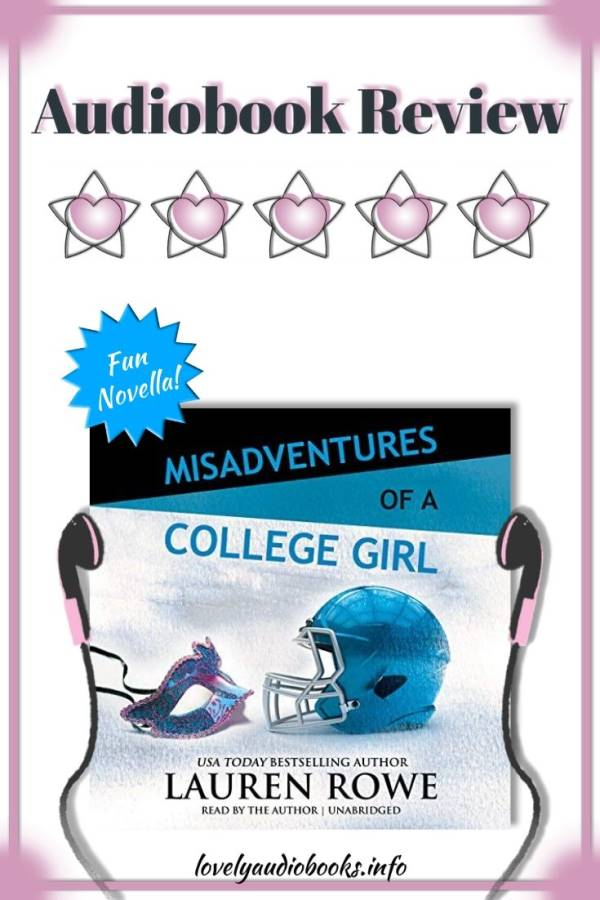 Misadventures of a College Girl by Lauren Rowe audiobook cover, 5 star rating