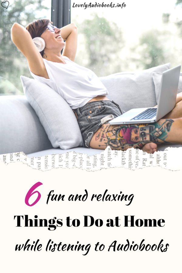 Fun Things to do at home that go with audiobooks - Pinterest image