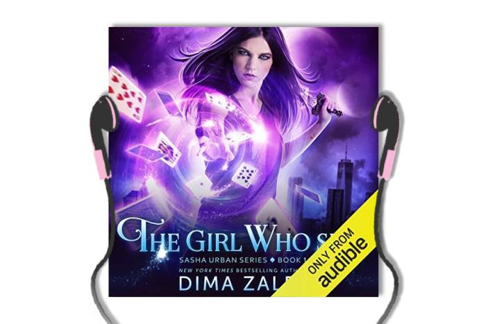 Sasha Urban audiobook series review: cover of The Girl Who Sees, book 1