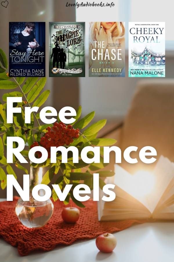 20 actually Free Romance Books, book covers of The Magpie Lord, The Chase, Cheeky Royal