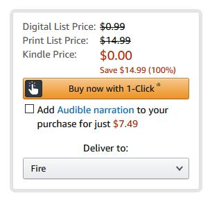 Toggle this field to add the cheap Audible narration to your ebook purchase