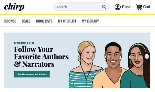 chirp books website